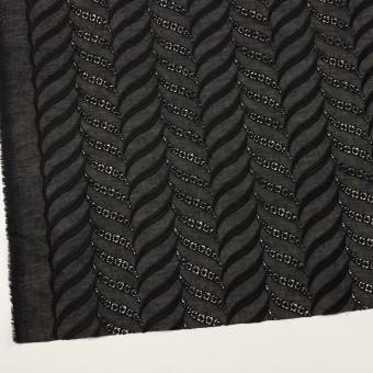 コットン×リーフ(ブラック)×ボイル刺繍_全2色 サムネイル2