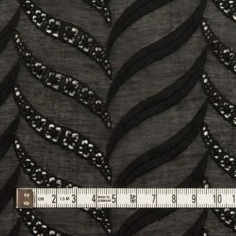 コットン×リーフ(ブラック)×ボイル刺繍_全2色 サムネイル4