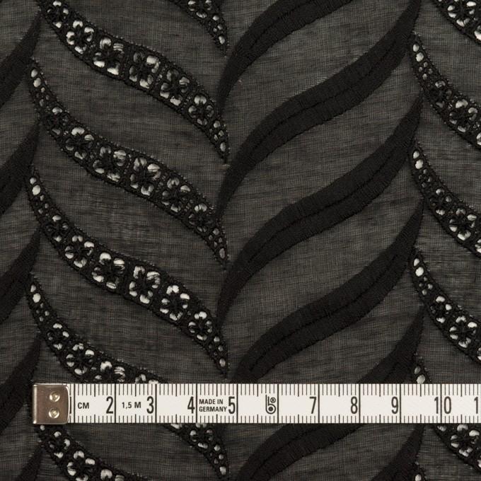 コットン×リーフ(ブラック)×ボイル刺繍_全2色 イメージ4
