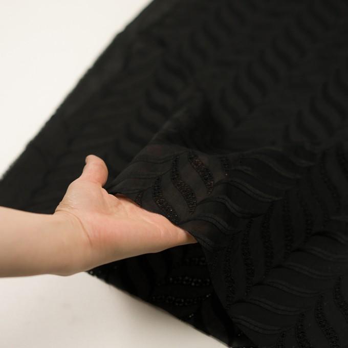 コットン×リーフ(ブラック)×ボイル刺繍_全2色 イメージ5
