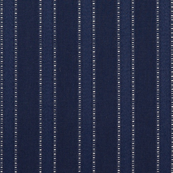 コットン×ストライプ(プルシアンブルー)×サテンジャガード イメージ1
