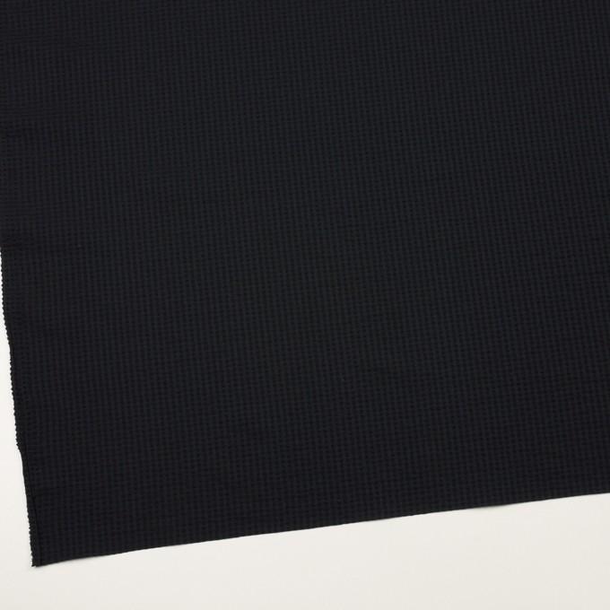 ポリエステル&ポリウレタン×無地(ダークネイビー)×サッカーストレッチ イメージ2