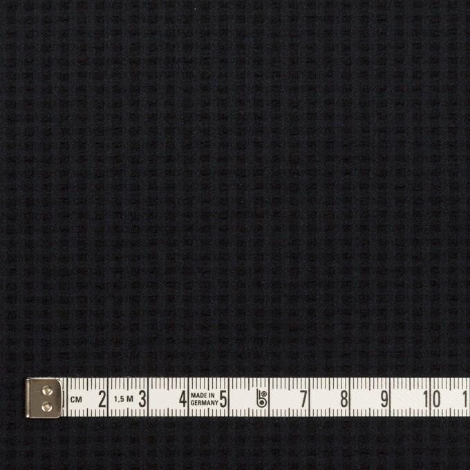 ポリエステル&ポリウレタン×無地(ダークネイビー)×サッカーストレッチ イメージ4