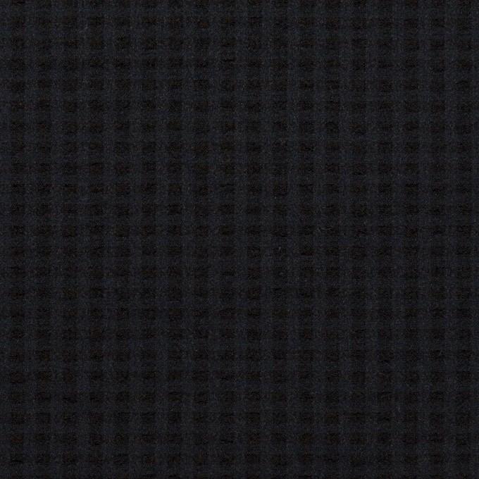 ポリエステル&ポリウレタン×無地(ダークネイビー)×サッカーストレッチ イメージ1