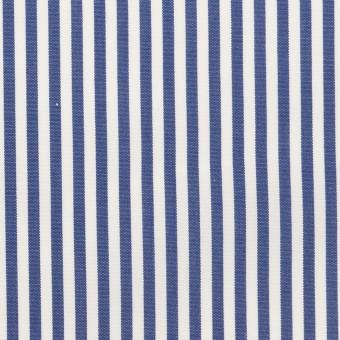 コットン×ストライプ(ブルー)×ブロード_全3色 サムネイル1