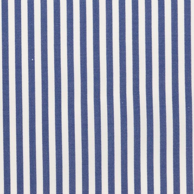コットン×ストライプ(ブルー)×ブロード_全3色 イメージ1