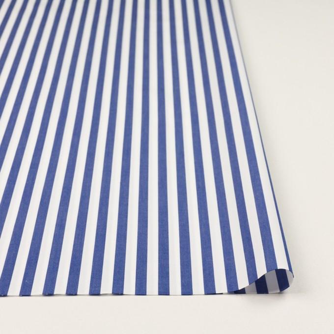 コットン×ストライプ(ブルー)×ブロード_全3色 イメージ3