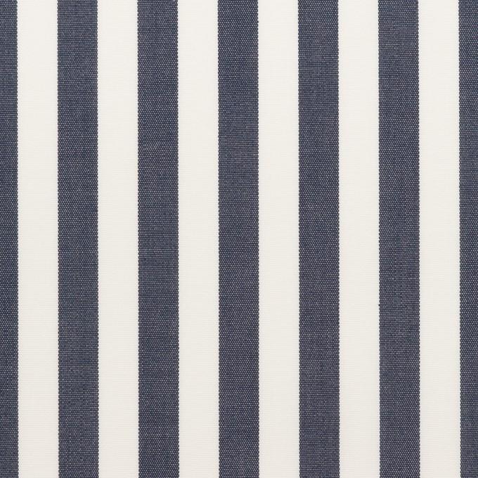 コットン×ストライプ(ダークネイビー)×ブロード_全3色 イメージ1