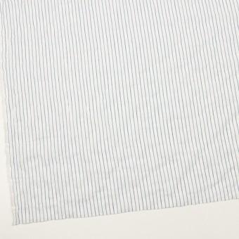 コットン&ポリウレタン×ストライプ(オフホワイト&ブルー)×ボイルシャーリング_全2色 サムネイル2