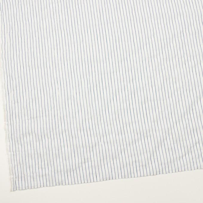 コットン&ポリウレタン×ストライプ(オフホワイト&ブルー)×ボイルシャーリング_全2色 イメージ2