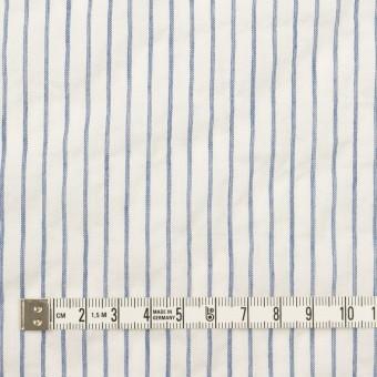 コットン&ポリウレタン×ストライプ(オフホワイト&ブルー)×ボイルシャーリング_全2色 サムネイル4