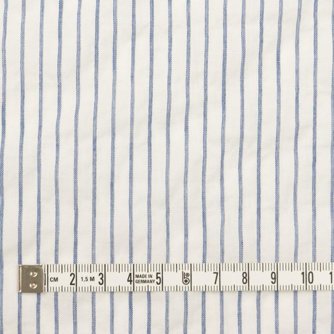 コットン&ポリウレタン×ストライプ(オフホワイト&ブルー)×ボイルシャーリング_全2色 イメージ4