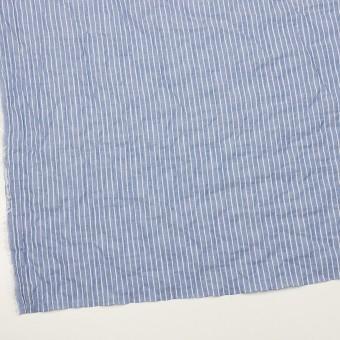 コットン&ポリウレタン×ストライプ(ブルー&オフホワイト)×ボイルシャーリング_全2色 サムネイル2