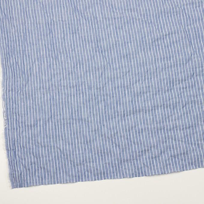 コットン&ポリウレタン×ストライプ(ブルー&オフホワイト)×ボイルシャーリング_全2色 イメージ2