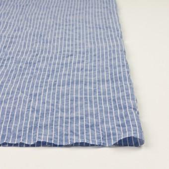コットン&ポリウレタン×ストライプ(ブルー&オフホワイト)×ボイルシャーリング_全2色 サムネイル3