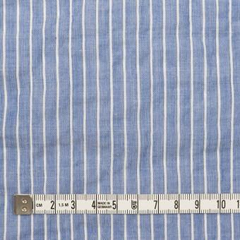 コットン&ポリウレタン×ストライプ(ブルー&オフホワイト)×ボイルシャーリング_全2色 サムネイル4