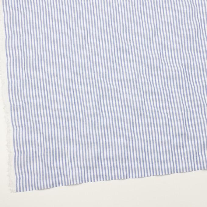 コットン&リネン混×ストライプ(ブルー)×シーチング・シャーリング_全2色 イメージ2