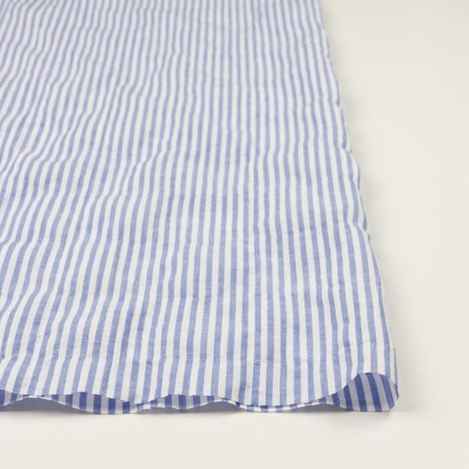 コットン&リネン混×ストライプ(ブルー)×シーチング・シャーリング_全2色 イメージ3