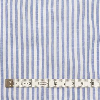 コットン&リネン混×ストライプ(ブルー)×シーチング・シャーリング_全2色 サムネイル4