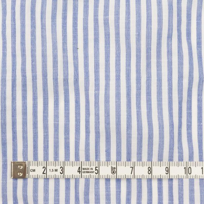 コットン&リネン混×ストライプ(ブルー)×シーチング・シャーリング_全2色 イメージ4