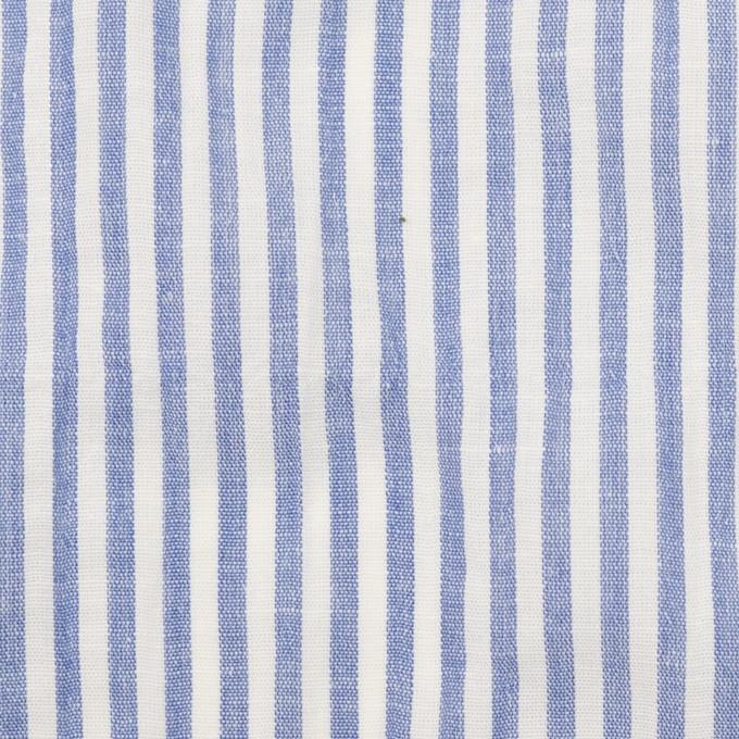 コットン&リネン混×ストライプ(ブルー)×シーチング・シャーリング_全2色 イメージ1
