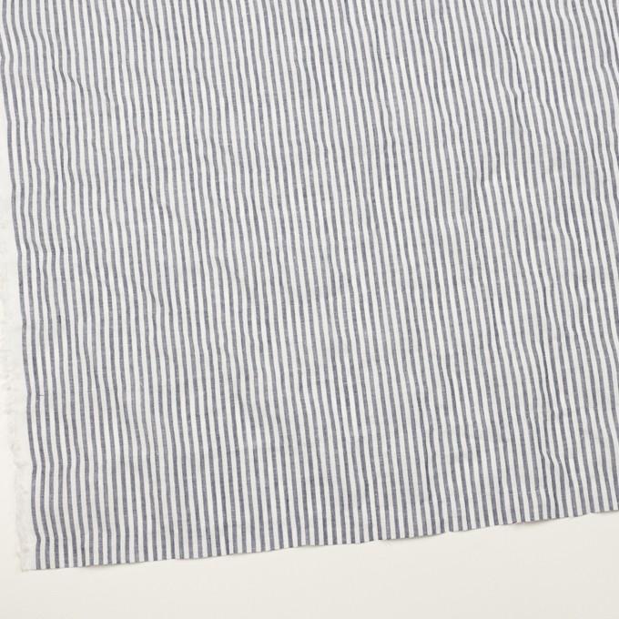 コットン&リネン混×ストライプ(ネイビー)×シーチング・シャーリング_全2色 イメージ2