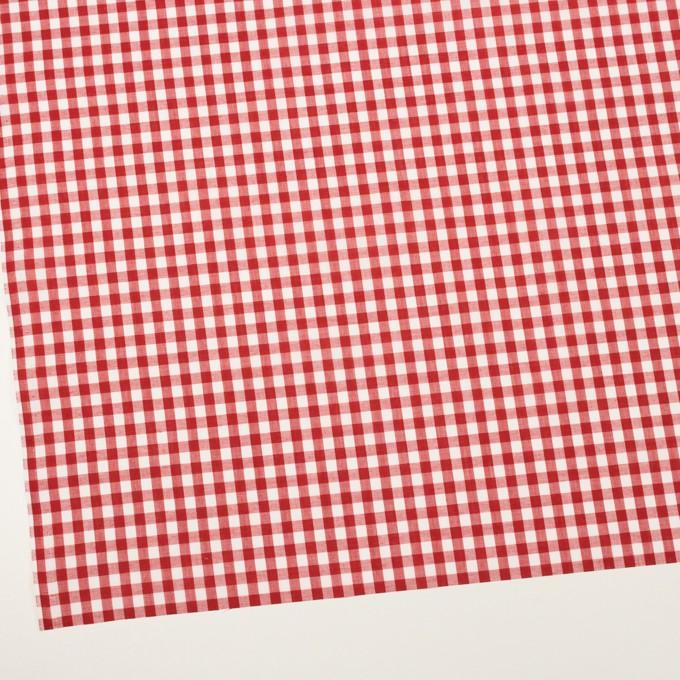 ポリエステル&コットン×チェック(レッド)×ブロード イメージ2
