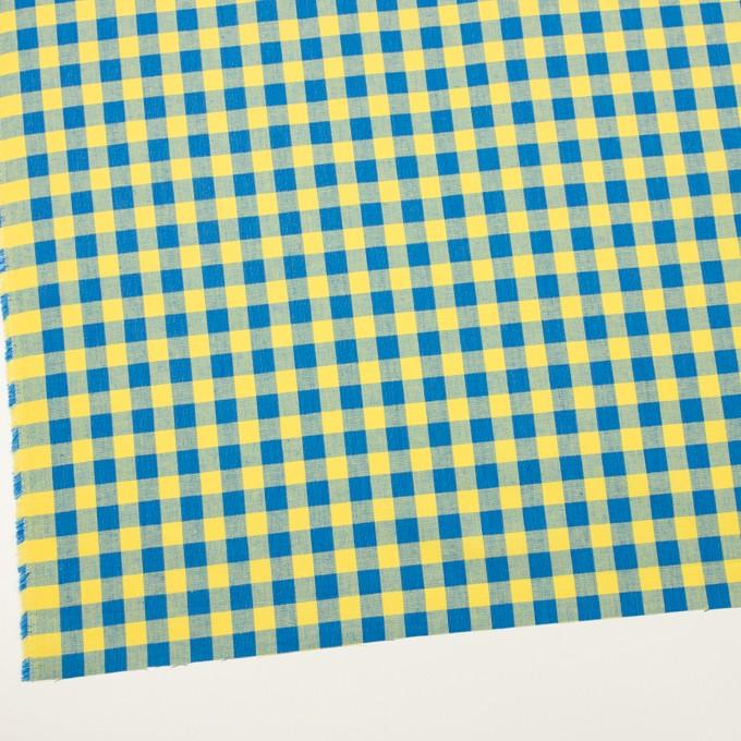 コットン×チェック(イエロー&ブルー)×シーチング イメージ2