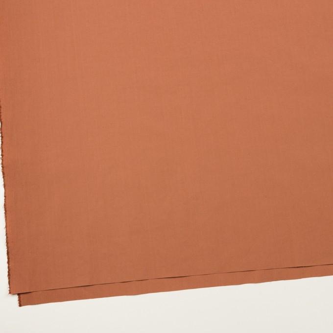 コットン&ポリウレタン×無地(レンガ)×タイプライター(高密ローン)・ストレッチ_全2色 イメージ2