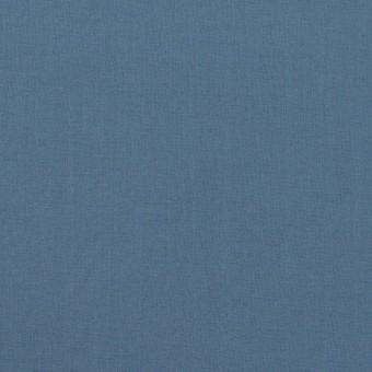 コットン&ポリウレタン×無地(アッシュブルー)×タイプライター(高密ローン)・ストレッチ_全2色