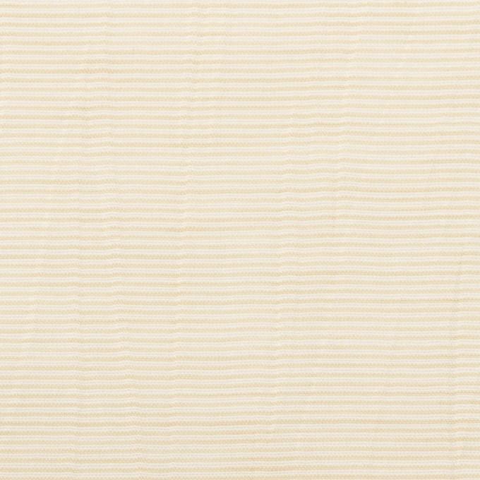 コットン×ボーダー(ベージュ)×ボイルワッシャー_全4色 イメージ1