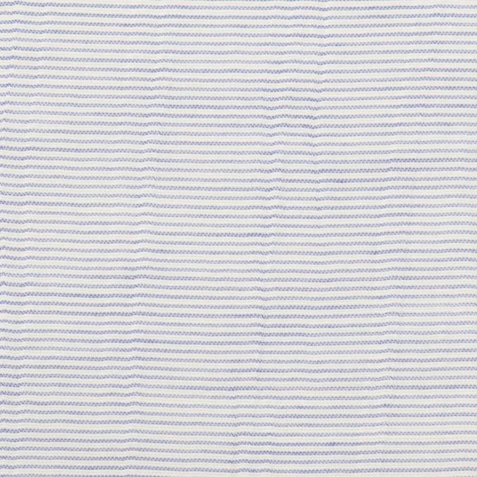 コットン×ボーダー(サックス)×ボイルワッシャー_全4色 イメージ1