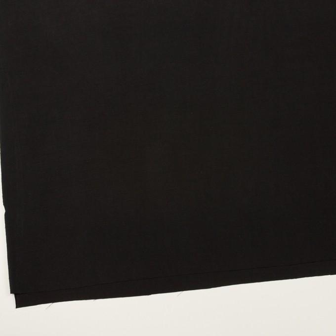 コットン&シルク×無地(ブラック)×ポプリン イメージ2