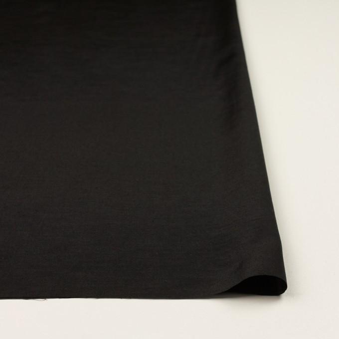 コットン&シルク×無地(ブラック)×ポプリン イメージ3