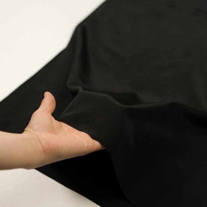 コットン&シルク×無地(ブラック)×ポプリン イメージ5