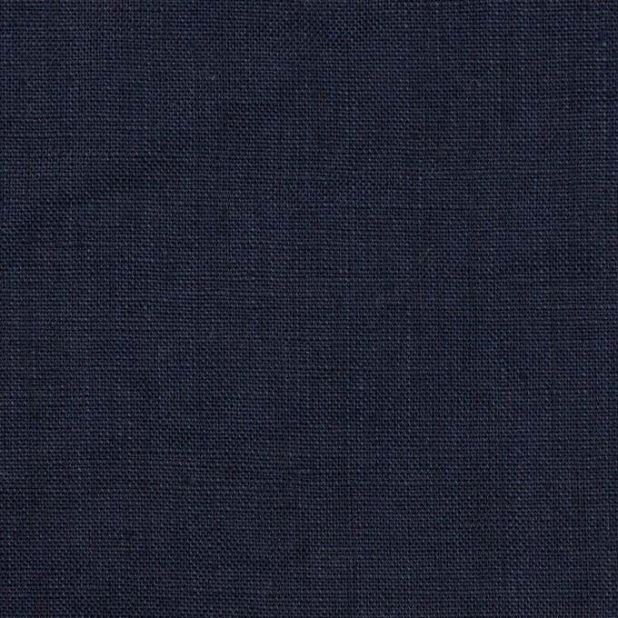 リネン×無地(ネイビー)×ローン_全10色 イメージ1