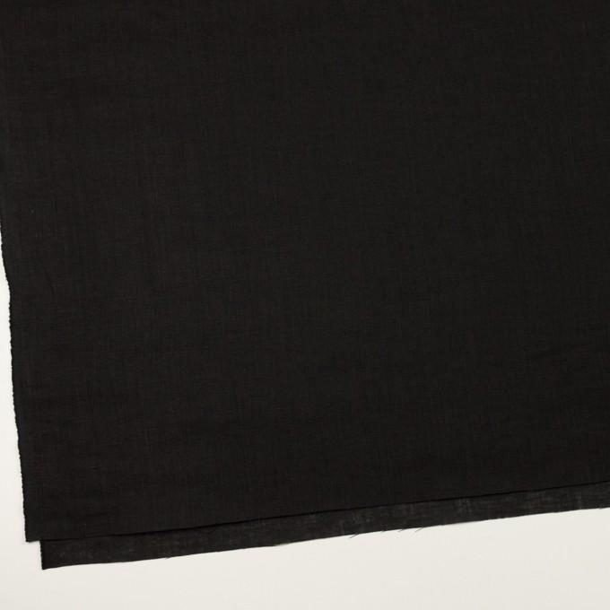 リネン×無地(ブラック)×ローン_全10色 イメージ2