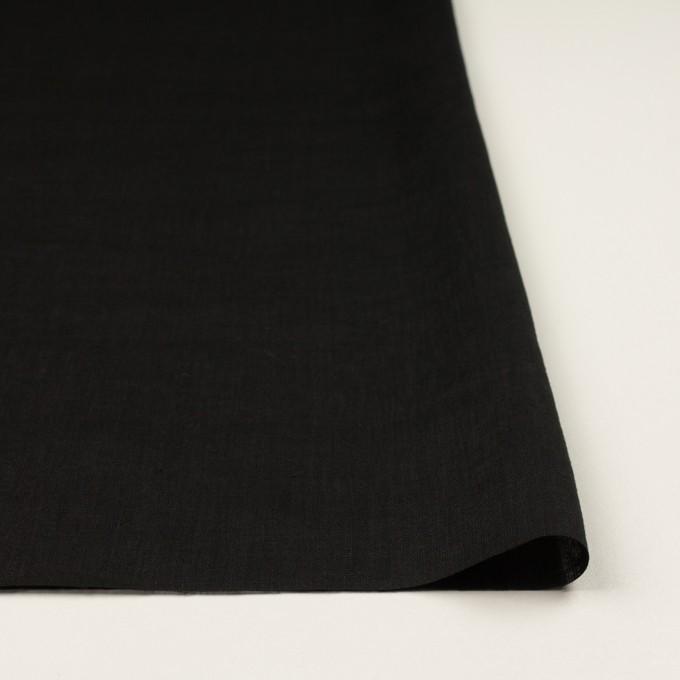 リネン×無地(ブラック)×ローン_全10色 イメージ3