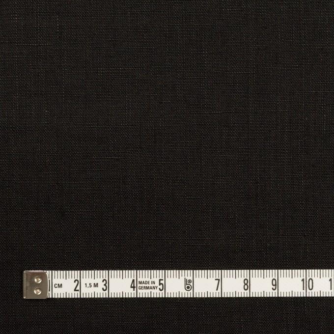 リネン×無地(ブラック)×ローン_全10色 イメージ4