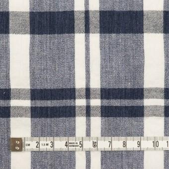 コットン×チェック(ネイビー&オフホワイト)×ヨウリュウ_全2色 サムネイル4