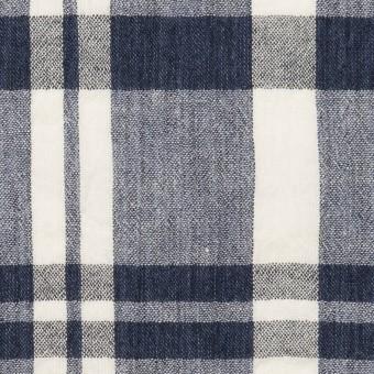 コットン×チェック(ネイビー&オフホワイト)×ヨウリュウ_全2色 サムネイル1