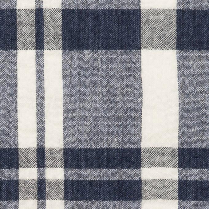 コットン×チェック(ネイビー&オフホワイト)×ヨウリュウ_全2色 イメージ1