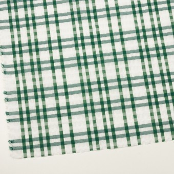 ポリエステル&ナイロン混×チェック(グリーン)×オーガンジー_イタリア製 サムネイル2