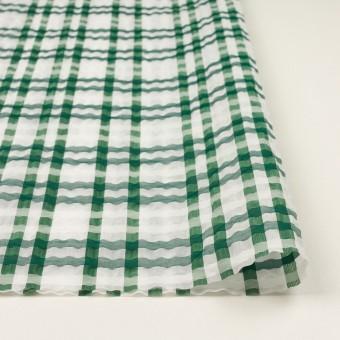 ポリエステル&ナイロン混×チェック(グリーン)×オーガンジー_イタリア製 サムネイル3