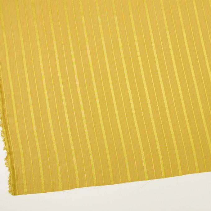 ポリエステル×ストライプ(イエローゴールド)×クレープジョーゼット・ジャガード イメージ2
