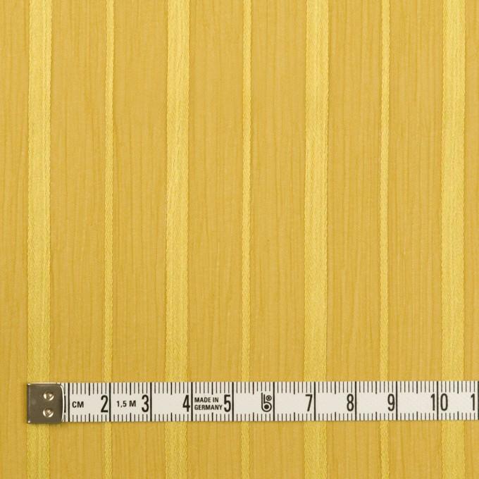 ポリエステル×ストライプ(イエローゴールド)×クレープジョーゼット・ジャガード イメージ4