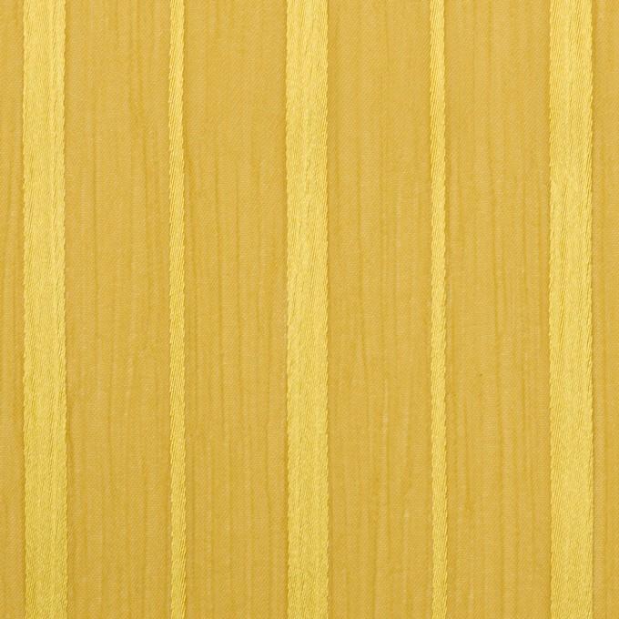 ポリエステル×ストライプ(イエローゴールド)×クレープジョーゼット・ジャガード イメージ1