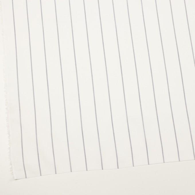 コットン&テンセル×ストライプ(ホワイト)×ローン_全2色 イメージ2