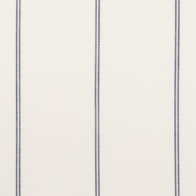 コットン&テンセル×ストライプ(ホワイト)×ローン_全2色 イメージ1