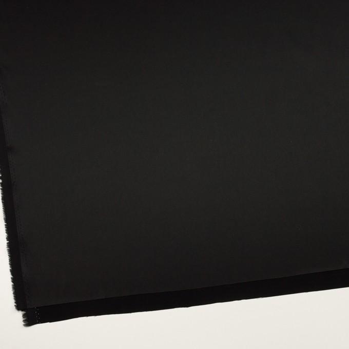 トリアセテート&ポリエステル×無地(ブラック)×サテンストレッチ イメージ2